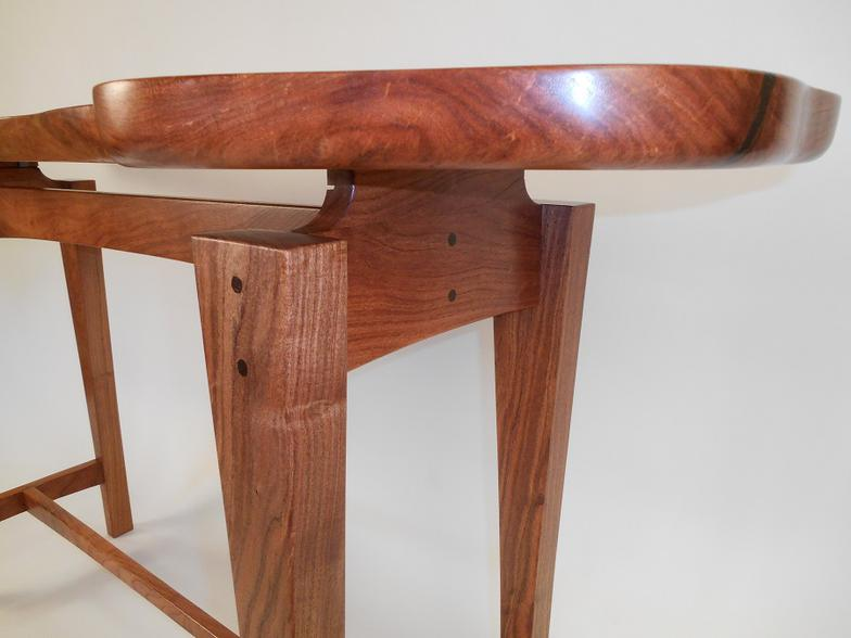 Mesquite Entry Sofa Table With Floating Top. Barry Bradley Art  Fredericksburg Texas